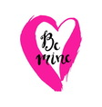 Be mine poster vector image vector image