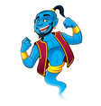 Blue Genie vector image