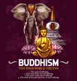 buddhism religion symbols sketch vector image vector image