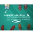 Business frame and background group businessmen vector image vector image