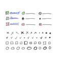 check box and check marks collection for bullet vector image vector image