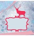 Christmas deer template card EPS 8 vector image vector image
