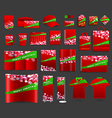 Christmas light background with corporate identity vector image vector image
