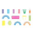 color spiral springs different shapes icons vector image