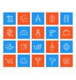 construction and house renovation repair icons vector image vector image