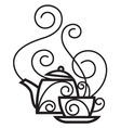 cup and kettle vector image vector image