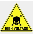 Danger High Voltage Sign vector image