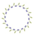 Delicate round frame vector image vector image