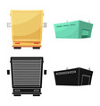 design of goods and cargo logo set of vector image vector image