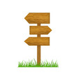 Direction wooden arrow vector image