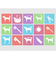 Dog grooming icons set vector image vector image