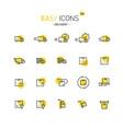 easy icons 36d delivery vector image vector image