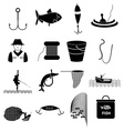 Fishing icons set vector image