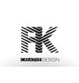 fk f k lines letter design with creative elegant vector image vector image