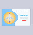 flight booking web template vector image