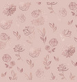 flower pattern rose gold elegant background with vector image vector image