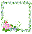 frame from flowers and leaves vector image vector image