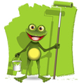 frog painter vector image vector image