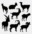 Goat and llama wild animal silhouette vector image vector image
