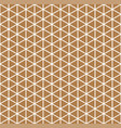 golden repeating geometric triangular grid vector image
