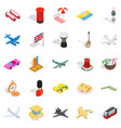 holiday spot icons set isometric style vector image vector image