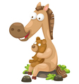 horse with bear vector image vector image