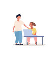 kids playing on laptop vector image vector image