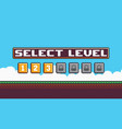 level select screen vector image