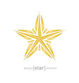 luxury broken golden star on white background vector image vector image