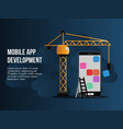 mobile app development conceptual design vector image