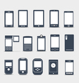 Modern mobile gadgets silhouettes vector | Price: 1 Credit (USD $1)