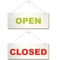 Open and closed door sign vector image vector image