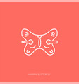outline icon woman accessories - hairpin vector image vector image