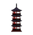 pagoda building japan related icon image vector image vector image