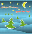 paper christmas tree christmas background vector image