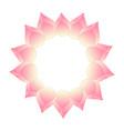 pink bud indian lotus wreath vector image vector image
