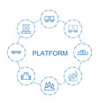 platform icons vector image vector image