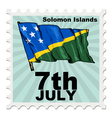 post stamp of national day of Solomon Islands vector image vector image