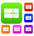postal parcel set color collection vector image