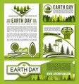 posters and banners earth day templates set vector image vector image