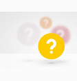question mark icon on a background blur vector image