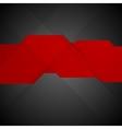 Red black contrast tech minimal design vector image vector image