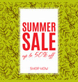 sale of eco-style banner vector image