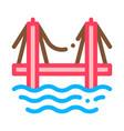 sea bridge icon outline vector image vector image