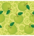 Seamless background apples and rings vector image vector image