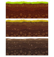 seamless soil layers layered dirt clay ground vector image vector image