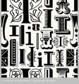 seamless vintage pattern letter I vector image vector image