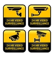 Security camera CCTV signs vector image vector image