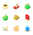 shuttle icons set isometric style vector image vector image