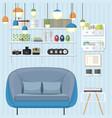 sleek living room vector image vector image